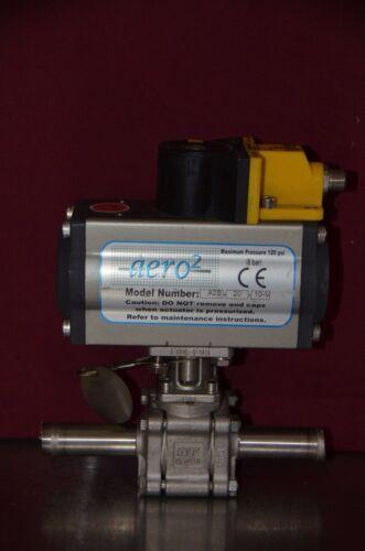 """SVF Flow Controls aero2 A2S-20 Actuator SB7 3/4"""" Valve & Turck Ni4-DSU35 Sensor"""