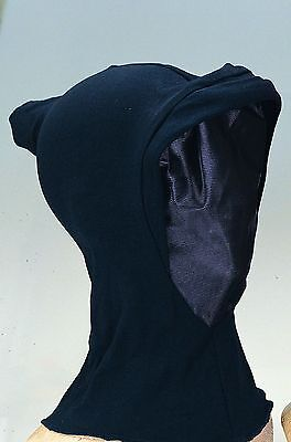 Black Invisible Mask Halloween Costume Hood Hooded Face See Through Reaper Blank - Black Face Halloween Mask