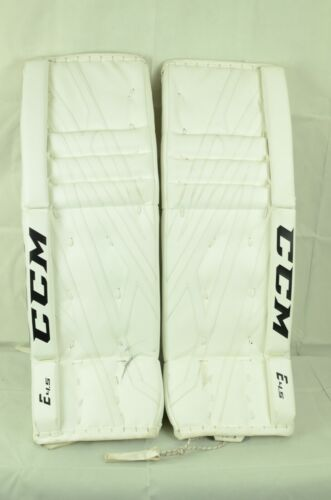 CCM Extreme Flex E4.5 Goalie Leg Pads Intermediate Size 30+1 White (0810-0095-D)