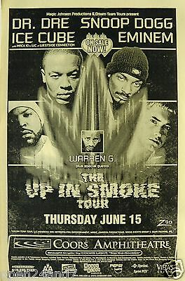 "EMINEM / DR. DRE/ SNOOP DOGG / ICE CUBE ""UP IN SMOKE TOUR"" 2000 SAN DIEGO POSTER"