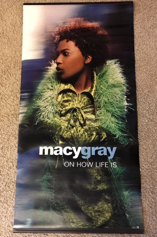 "XL! MACY GRAY ""ON HOW LIFE IS"" PROMO ONLY, VINYL BANNER!"