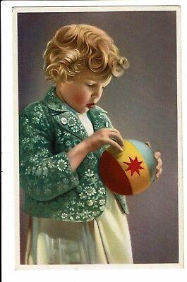 CPA - Carte postale -Belgique-Petite fille avec son ballon- S5115