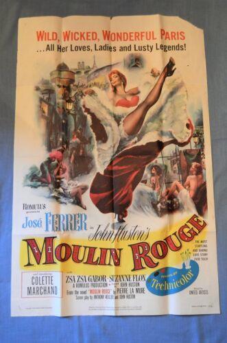 "Vintage Movie Full Sheet Poster, ""Moulin Rouge"" (1953)"