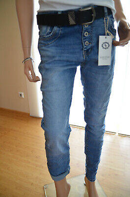 Karostar Baggy Boyfriend Jeans Hose Damen destroyed Big 44 46 48 Neu Italy Style Destroyed Boyfriend-jeans