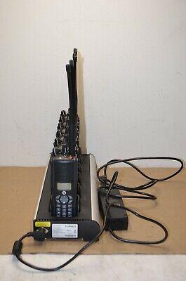 Lot Of 6 Ef Johnson Full Keypad Vp900 Dual Band Portable Radio Charger