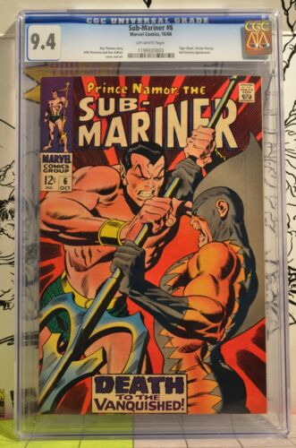 Sub-Mariner #6 CGC 9.4 2nd Appearance Tiger Shark Awesome Cover