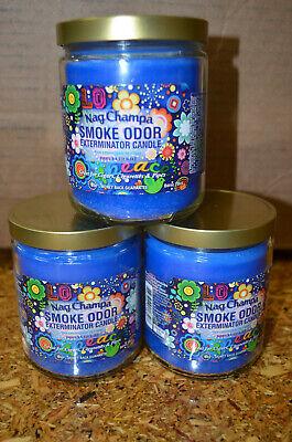 Nag Champa Smoke Odor Exterminator 13 oz Jar Candle {3 PACK}  Odor Exterminator Candle