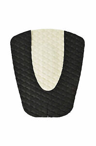 Diamond Patterned Traction Pad, Surfboard Tail Pad, DECK GRIP, BLACK & WHITE