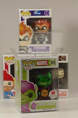 Funko Pop  Protectors For 4  Vinyls   Acid Free  Crystal Clear  Perfect Fit
