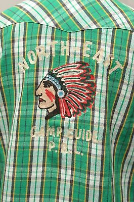Polo Ralph Lauren Western Snap Native Indian Aztec Chief Shirt Very RRL XL