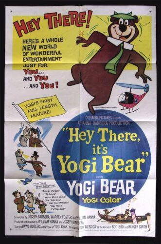 YOGI BEAR * CineMasterpieces 1SH ORIGINAL MOVIE POSTER CARTOON 1964