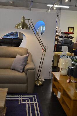 TALOS Vintage Brass Floor Lamp Adjustable Angled Giant Light 1930s Retro Style