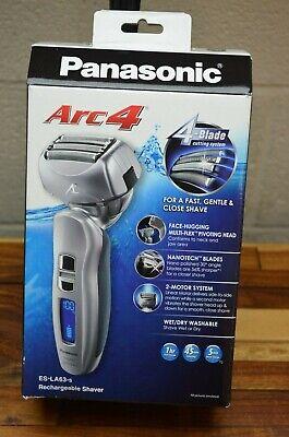 Panasonic ES-LA63-S Arc4 Foil Cordless Rechargeable Wet/Dry Electric Shaver Dry Arc 4 Shaver
