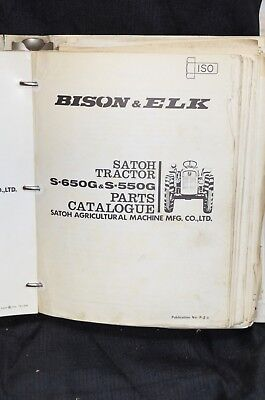 Satoh Bison Elk Technical Service Parts Catalog Manual S630 S650 S550 Tractor