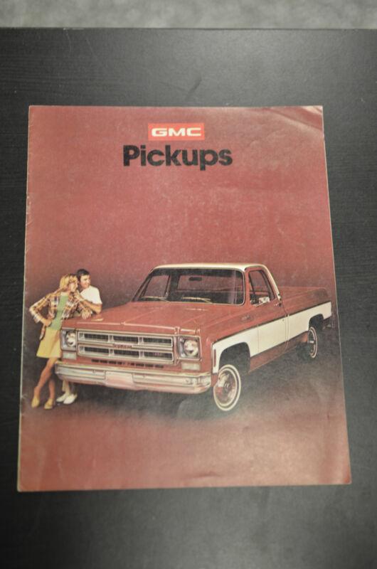 GMC Pickups 1975 Sales Literature Book