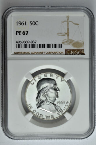 1961 50c Silver Proof Franklin Half Dollar NGC PF 67