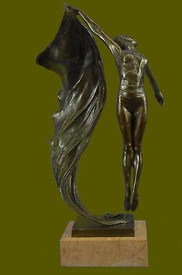 BRONZE ART DECO SCULPTURE STATUE FIGURINE FIGURE ORNAMENT GIRL BY ALDO VITALEH Bronze Sculpture Statue Figurine