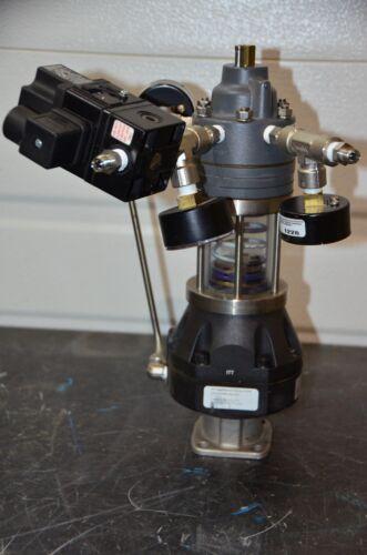 "ITT Pure-Flo 1"" B209 Diaphragm Actuator Siemens 73N-B Pneumatic Valve Positioner"