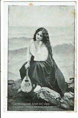 CPA - Carte Postale-Belgique -Fantaisie femme triste 1909 VM1840