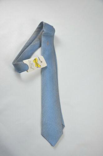 Vtg 1950s 60s Wembley NOS Deadstock Blue Ombre Skinny Tie Mod Rockabilly Metalli