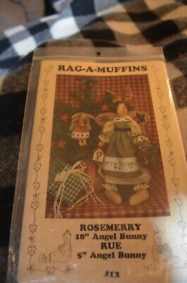Rag-A-Muffins Rosemerry and Rue Angel Bunny Patterns To Sew