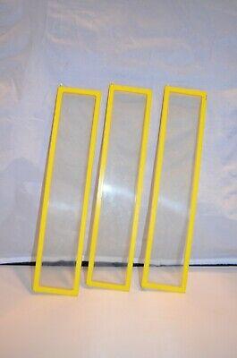 (3) 1978 Barbie Dream House Yellow Door Window Replacements 12 1/4 x 2 5/8