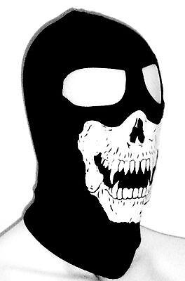 AMERICAN MADE BLACK SKULL VAMPIRE Fang Hood FULL FACE balaclava WINTER SKI MASK  - Vampire Skull Mask