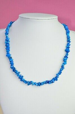 Blue Nugget Beaded Statement Necklace Chic Chunky Fashion Jewelry 19