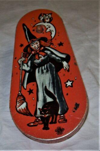 Vintage Halloween Ratchet Noisemaker - Witch US Metal Toy Mfg. Co.