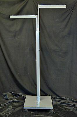 Two2 Clothing Rack Two Way 2 Straight Arms 2 Clothes Adjustable Retail Display