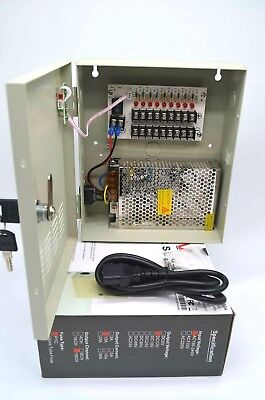 POWER SUPPLY BOX FOR CCTV CAMERAS 12V 5 AMP 9 Port ( DP1208-5A ) 5 Amp Power Supply Box