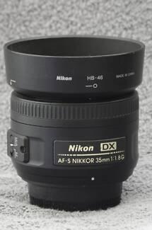 Nikon Nikkor DX AF-S 35mm F/1.8G Lens - As new condition Leichhardt Leichhardt Area Preview