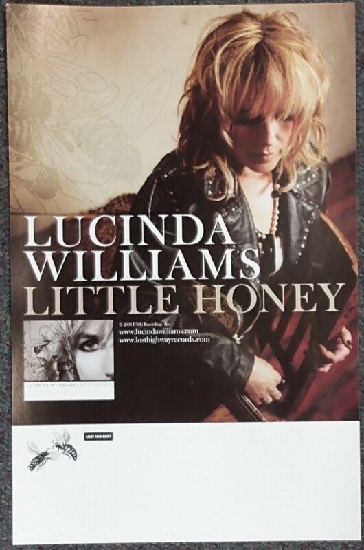Lucinda Williams Little Honey 2008 PROMO POSTER