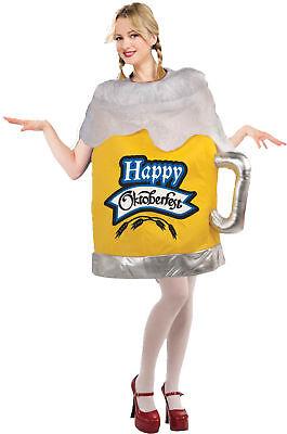 Föhlich Oktoberfest Bier Glas Erwachsene Kostüm Damen Lustiges Halloween