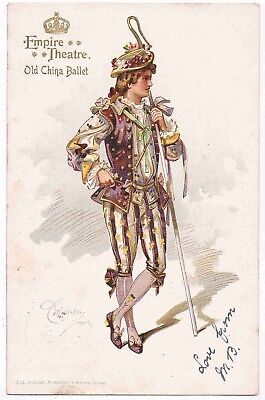 EMPIRE THEATRE LONDON - OLD CHINA, BALLET- COSTUME DESIGNED BY C.WILHELM, 1901