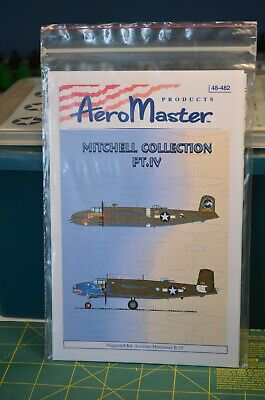AreoMaster 48-481 B-25 Mitchell Collection Pt IV Decals.