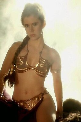 GLOSSY PHOTO PICTURE 8x10 Princess Leia Slave To Jabba The Hutt Slave Leia