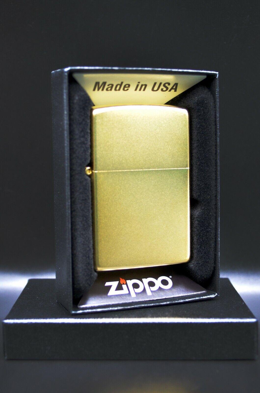 24 Karat  Gold Plated Zippo® Lighter with Satin Finish - Ma