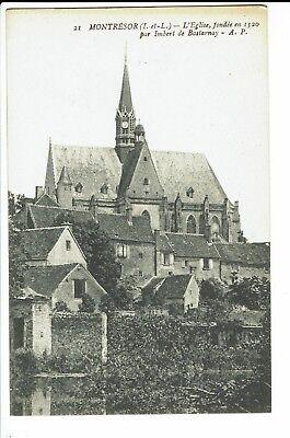 CPA - Carte postale -FRANCE -  Montrésor- Son église - S491