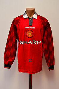 MANCHESTER-UNITED-1996-1997-1998-HOME-FOOTBALL-SHIRT-JERSEY-UMBRO-LONG-SLEEVE