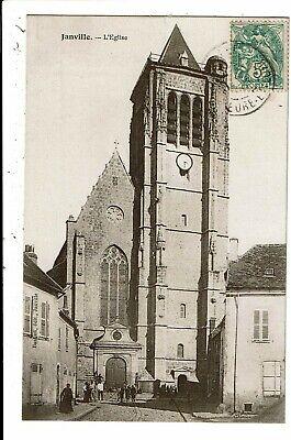 CPA-Carte Postale -FRANCE - Janville- Son Eglise  en 1907 VM5852