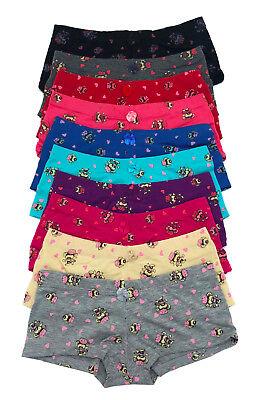 LOT Big Girl Pink Love Heart Monkey Teen Girl's Cotton Boyshorts Panty S-XL