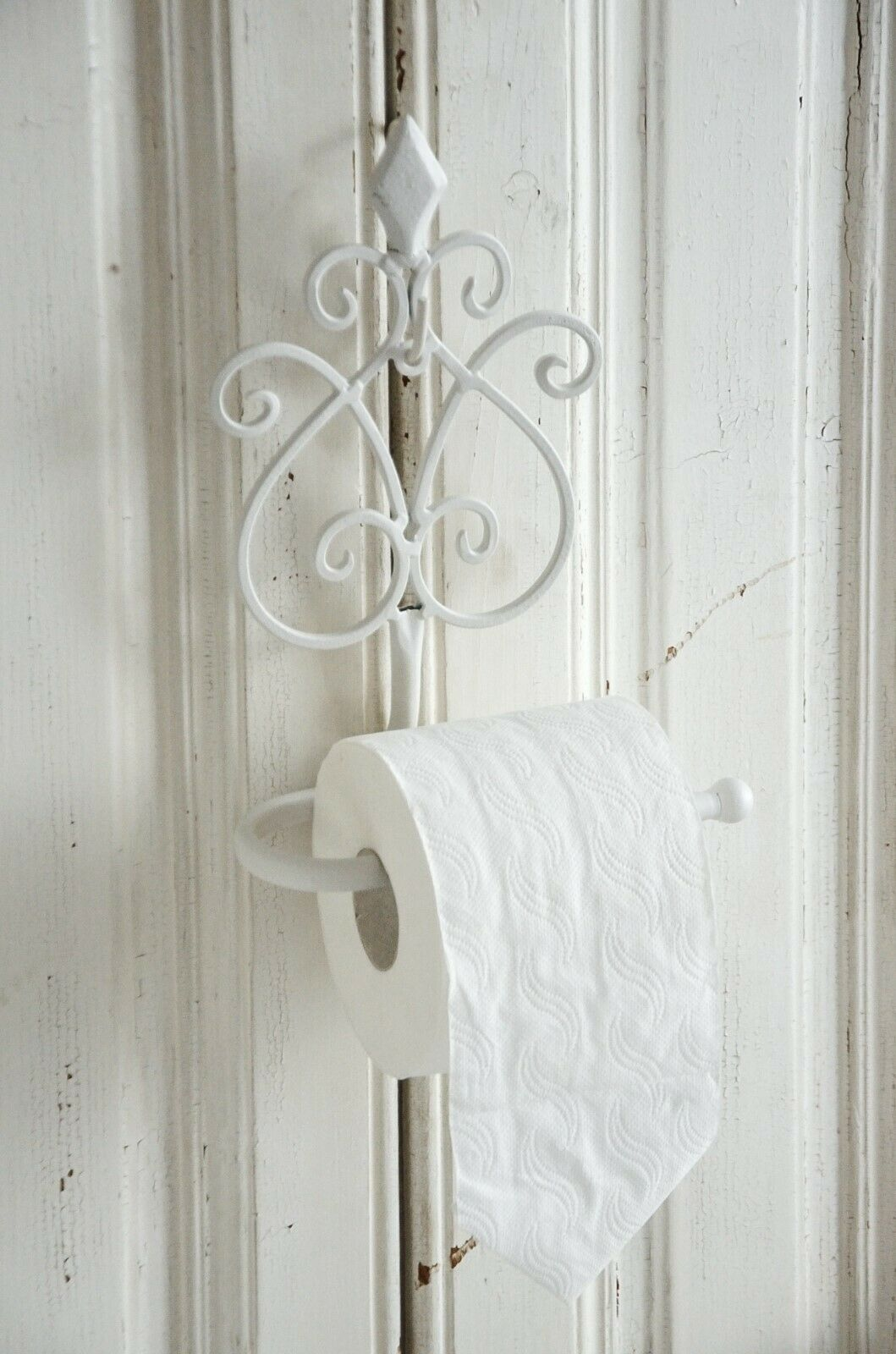 Toilettenpapierhalter WC Rollenhalter Wandhalter Abroller Shabby Chic