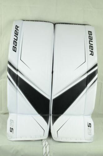 Bauer Supreme S29 Goalie Leg Pads Senior Size Small White/Black(0810-0096-D)