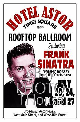 FRANK SINATRA 1940 HOTEL ASTOR Times Square NY Poster Art Rendition THouse 2016