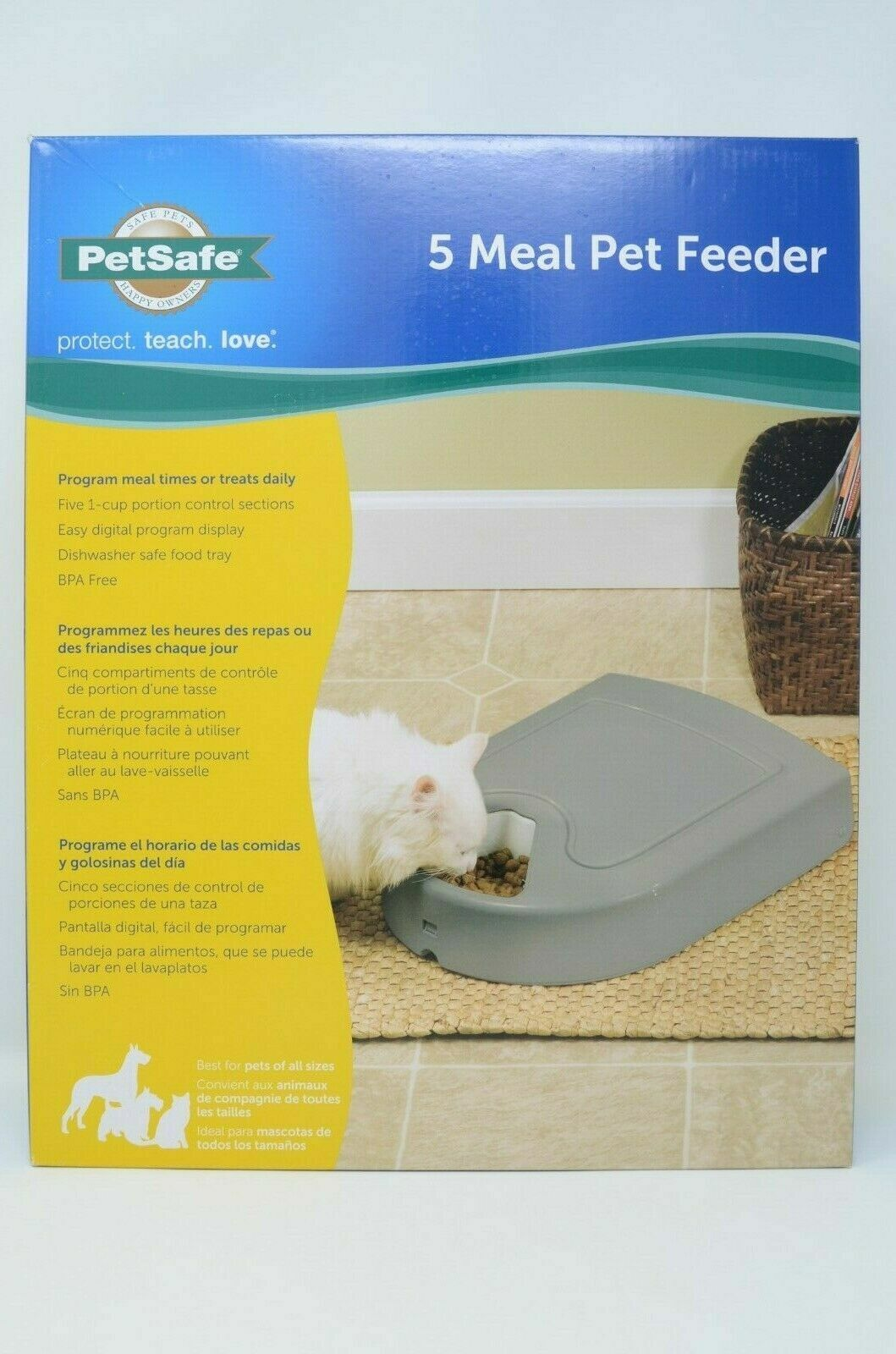 Automatic Pet Feeding Station Food Meal Dispenser Storage w/ Timer