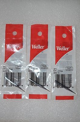 3x Original Weller St7 132 Conical Tip For Wp25 Wp30 Wp35 Wlc100