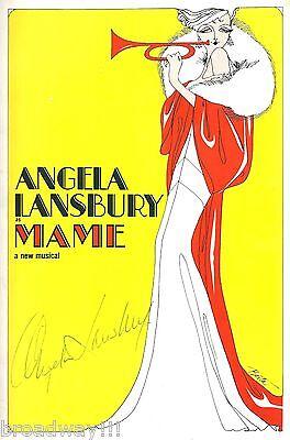 "Angela Lansbury (Signed) ""MAME"" Beatrice Arthur 1966 Tryout Souvenir Program"