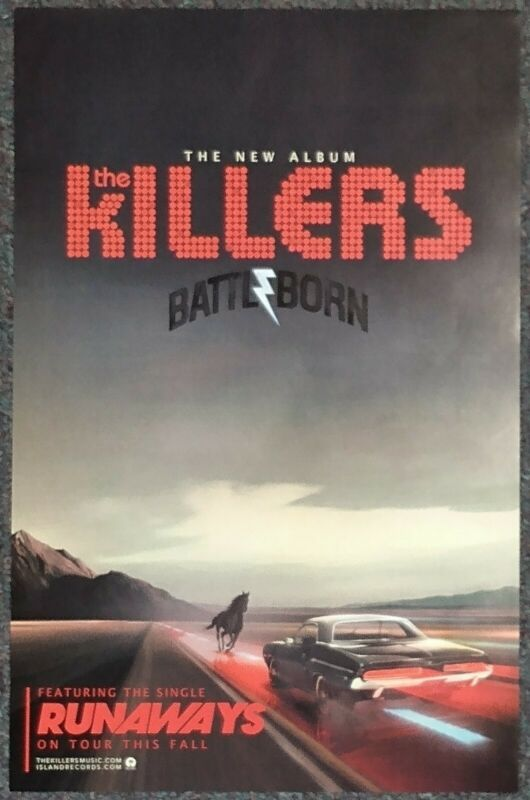 The Killers Battle Born 2012 Double-sided PROMO POSTER