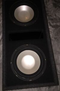 """Two 10"""" infinity subs in ported box"""